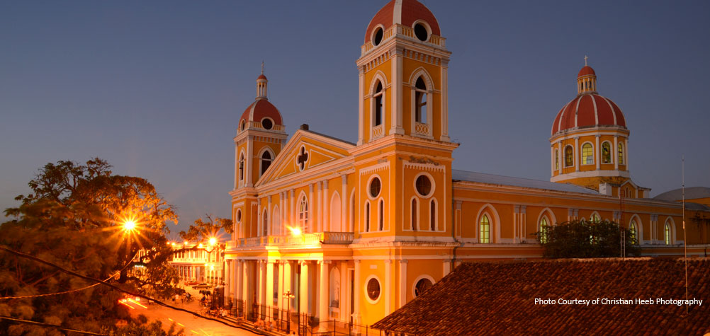 Discover Nicaragua with a tour of the colonial city of Granada and visit Granada's catherdral.